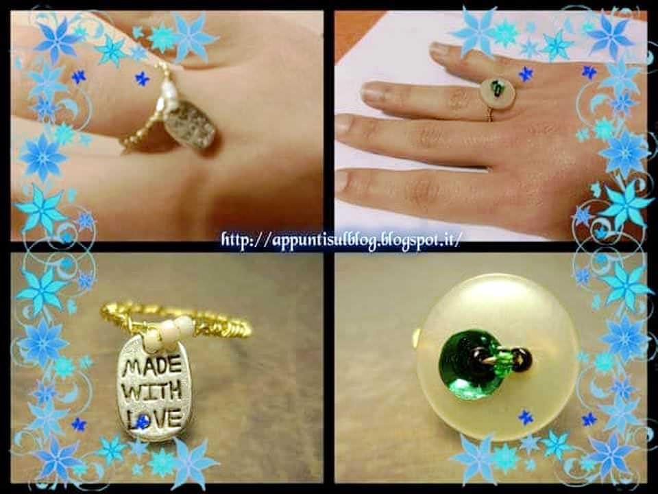 La fabbrica di anelli con bottoni e pailletes 1 bracciale