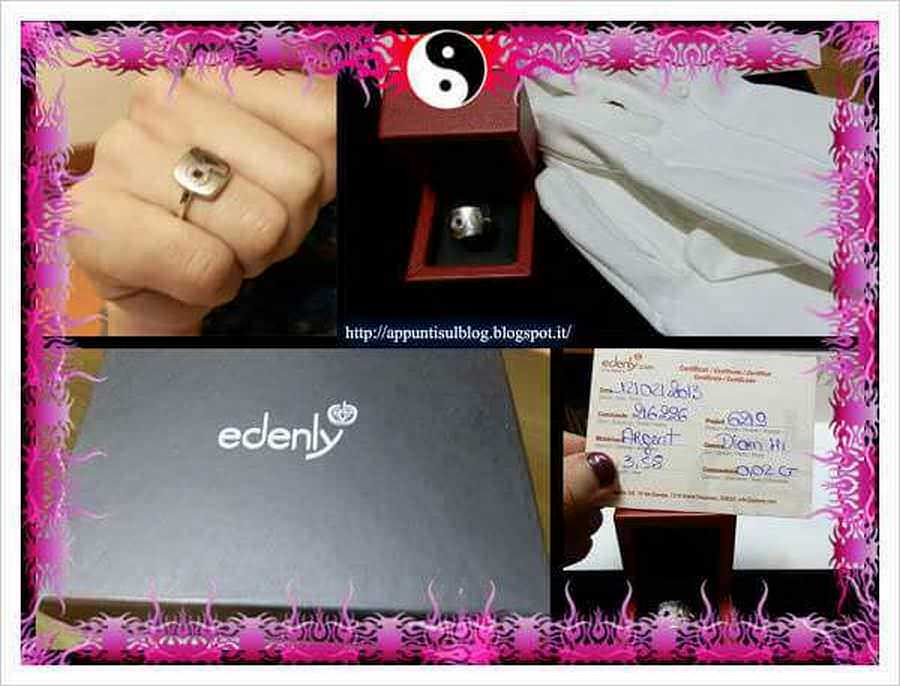 Edenly, anello d'argento con diamanti