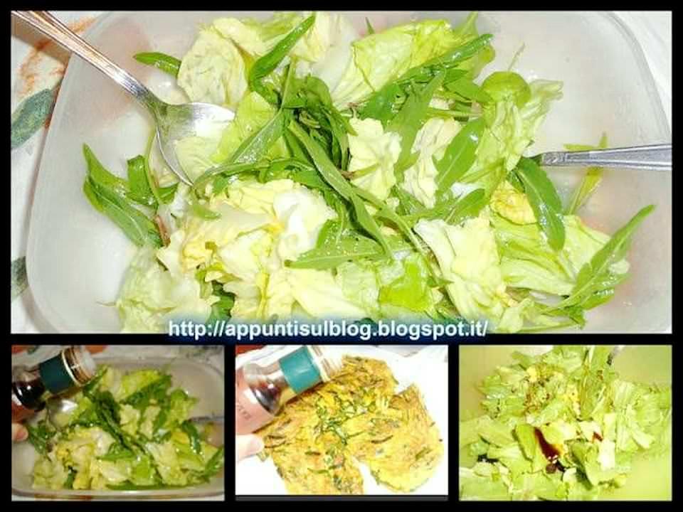 Menu del giovedì, paccheri Elianto, frittata e insalata 4 Ariosto