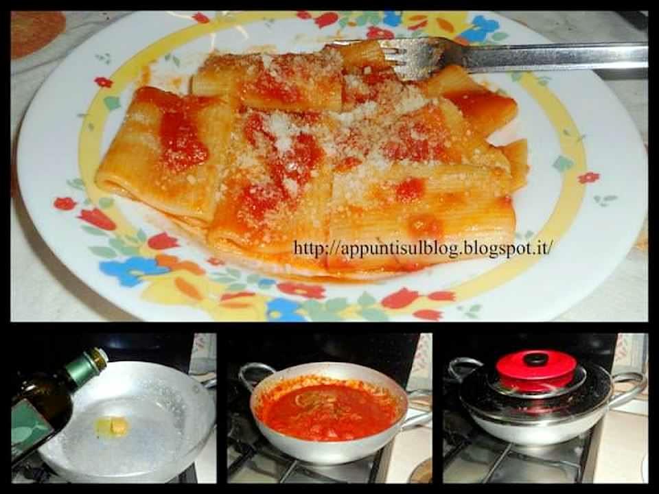 Menu del giovedì, paccheri Elianto, frittata e insalata 2 Ariosto
