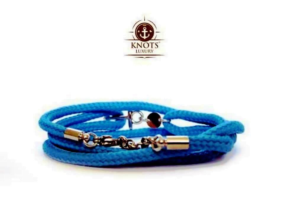 Knots Luxury, bracciali di corda intrecciata con chiusura ad ancora 2 bigiotteria