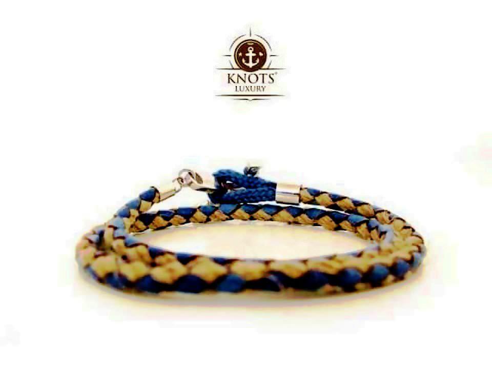Knots Luxury, bracciali di corda intrecciata con chiusura ad ancora 5 bigiotteria