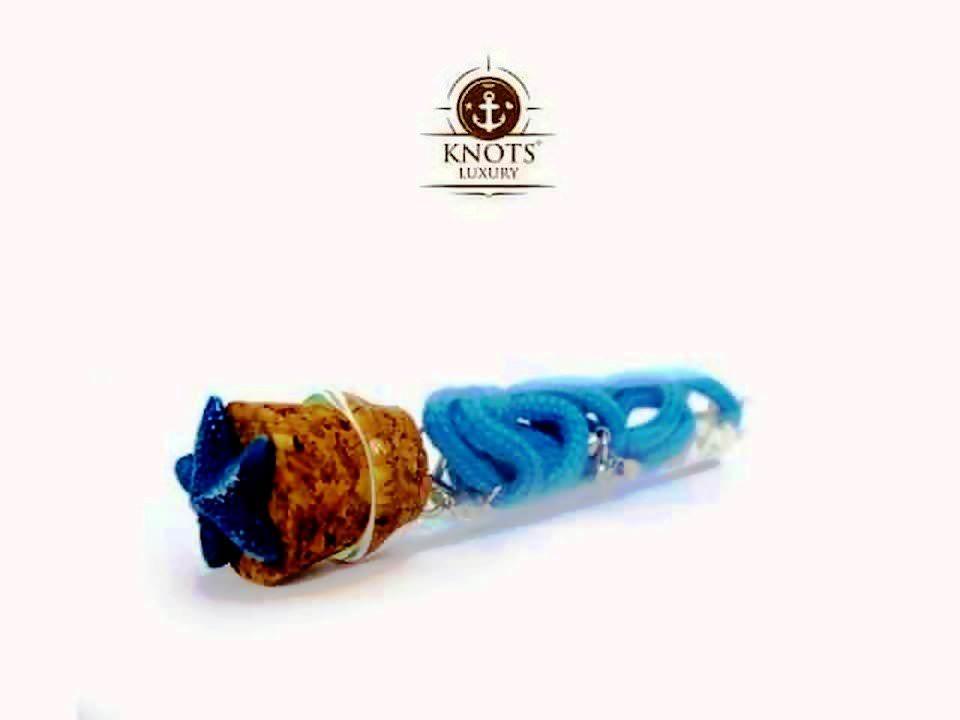 Knots Luxury, bracciali di corda intrecciata con chiusura ad ancora 6 bigiotteria