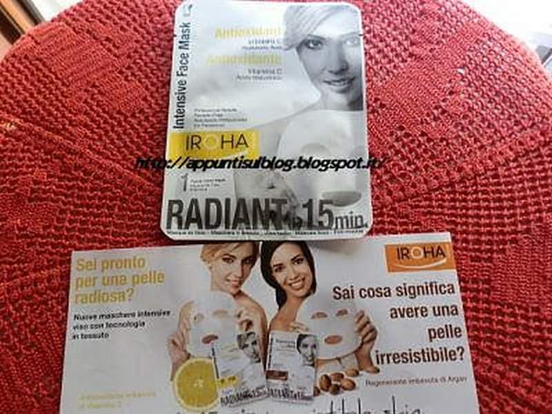 Iroha, maschera di bellezza di stoffa con vitamina C e acido Ialuronico 3 #beauty