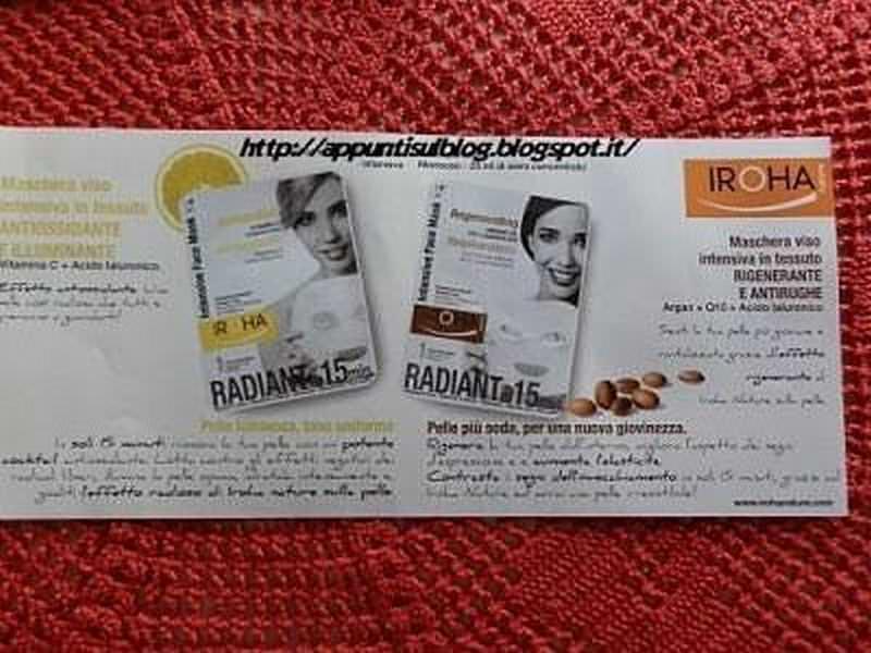Iroha, maschera di bellezza di stoffa con vitamina C e acido Ialuronico 4 #beauty