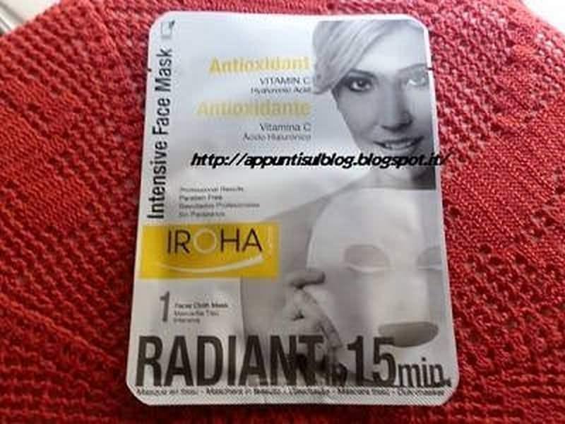 Iroha, maschera di bellezza di stoffa con vitamina C e acido Ialuronico 2 #beauty