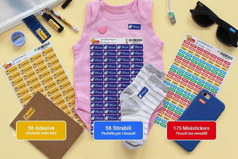 My nametags: etichette adesive per personalizzare ogni cosa