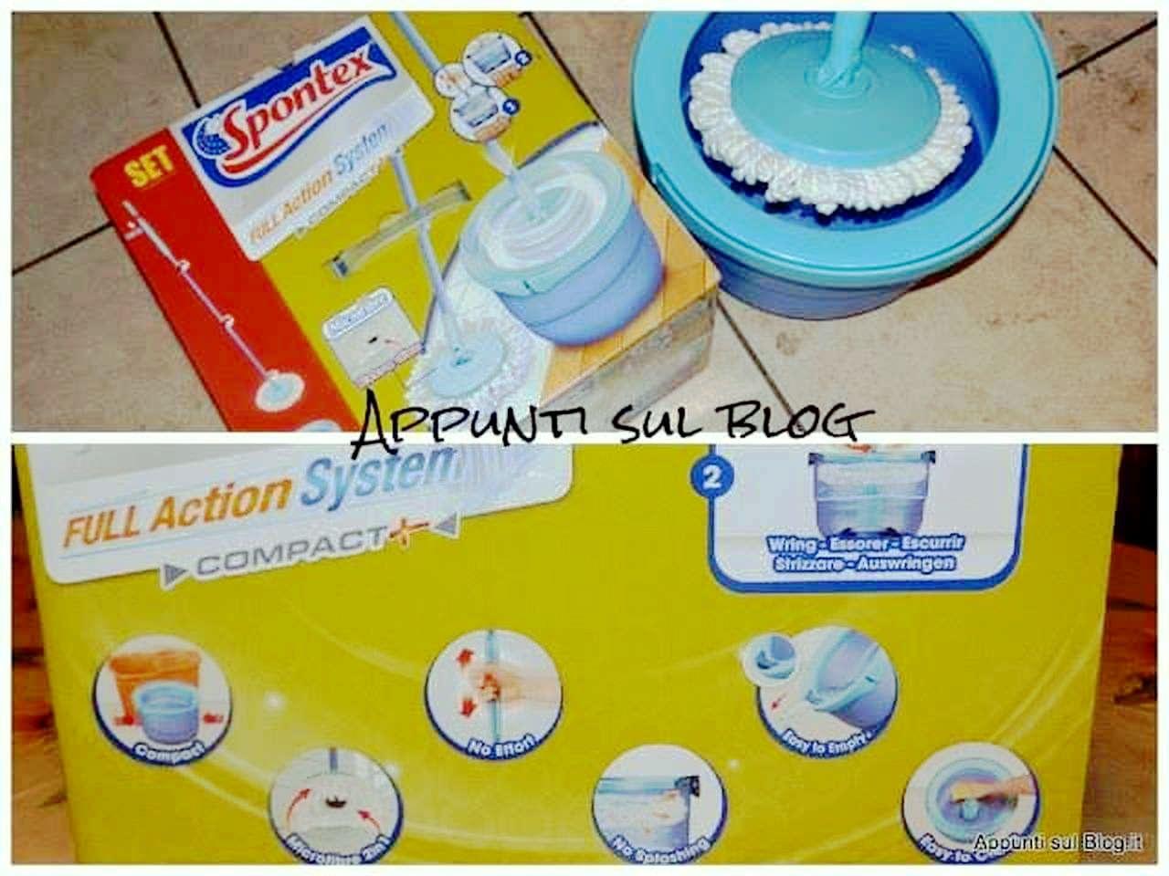 #pulizie Spontex : lavapavimenti Full Action System con mop rotante