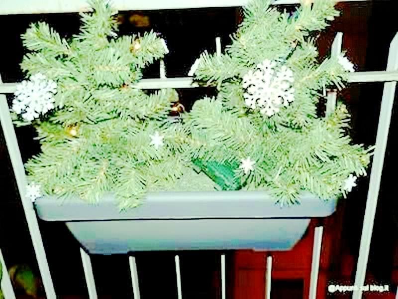 Blumfeldt, fioriera 20 luci LED con fiocchi di neve 5 articoli casa
