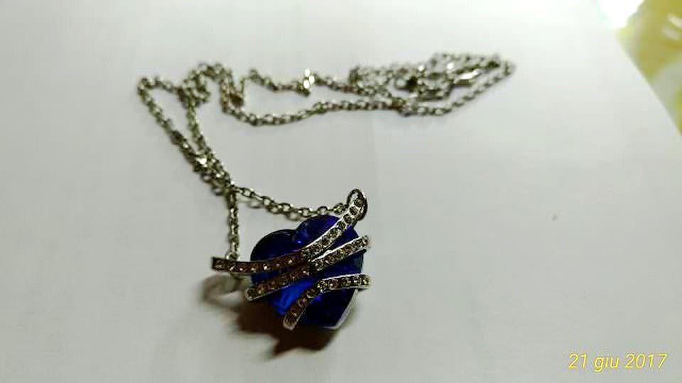 Collana con cuore Carolier in Swarovski Crystal