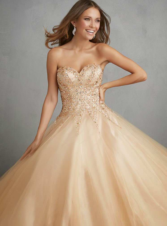 Weddingshe: to wear champagne wedding dresses 2015 very amazing