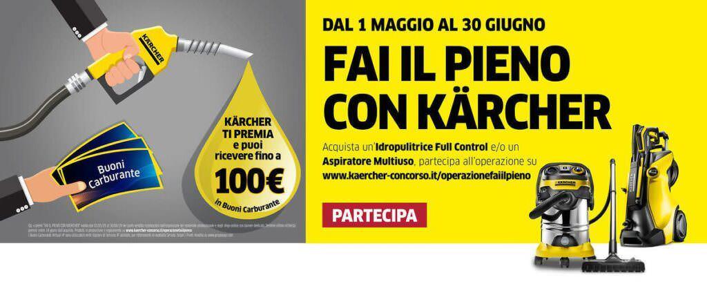 """Karcher: prodotti casa-giardino e concorso """"fai il pieno"""""""
