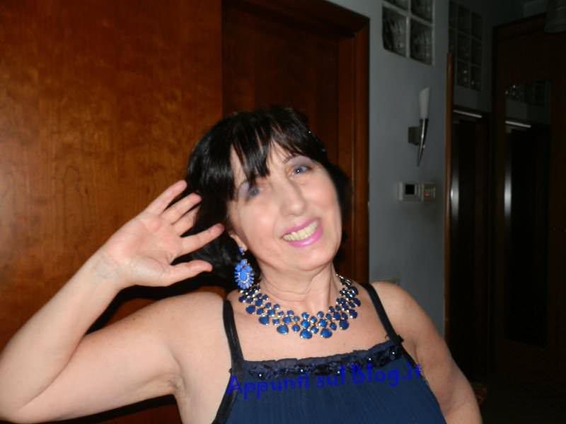 Romwe, bijoux dal colore blu per donne fashion