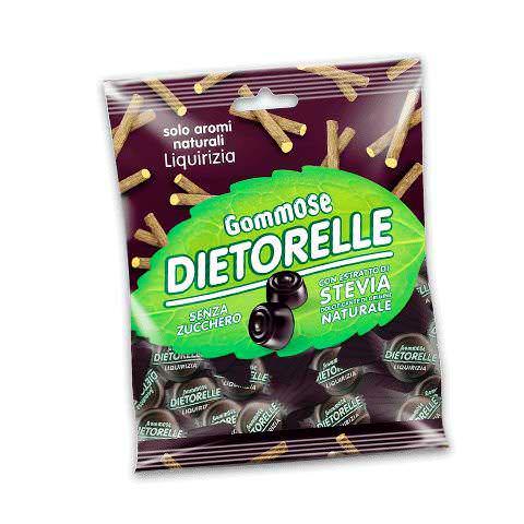 DIETORELLE caramelle, estratto di stevia nelle caramelle senza zucchero 2 alimenti