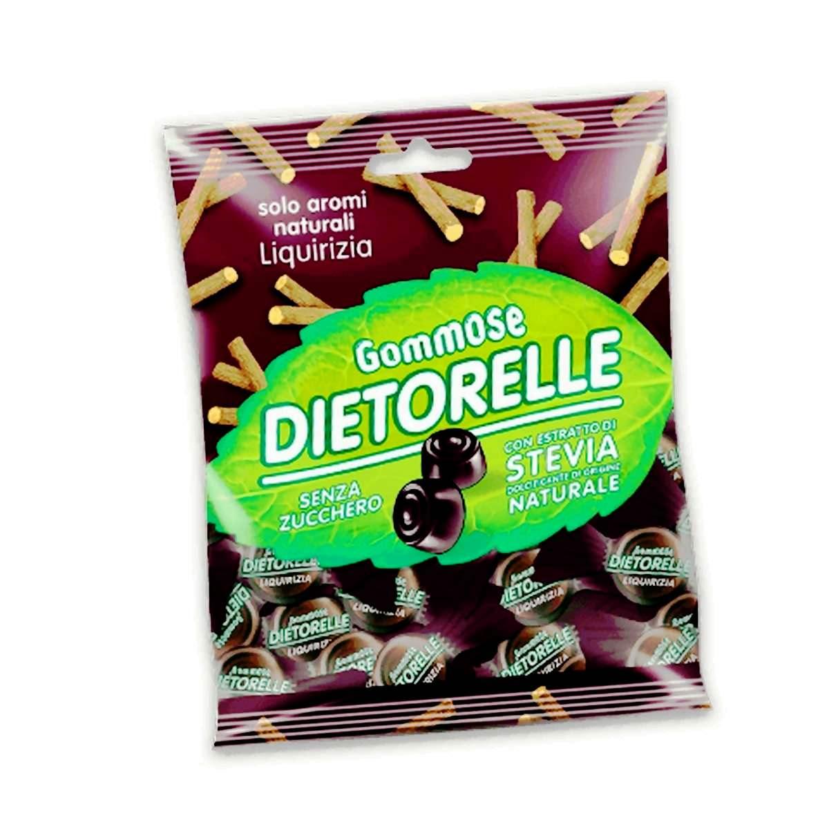 DIETORELLE caramelle, estratto di stevia nelle caramelle senza zucchero 3 alimenti