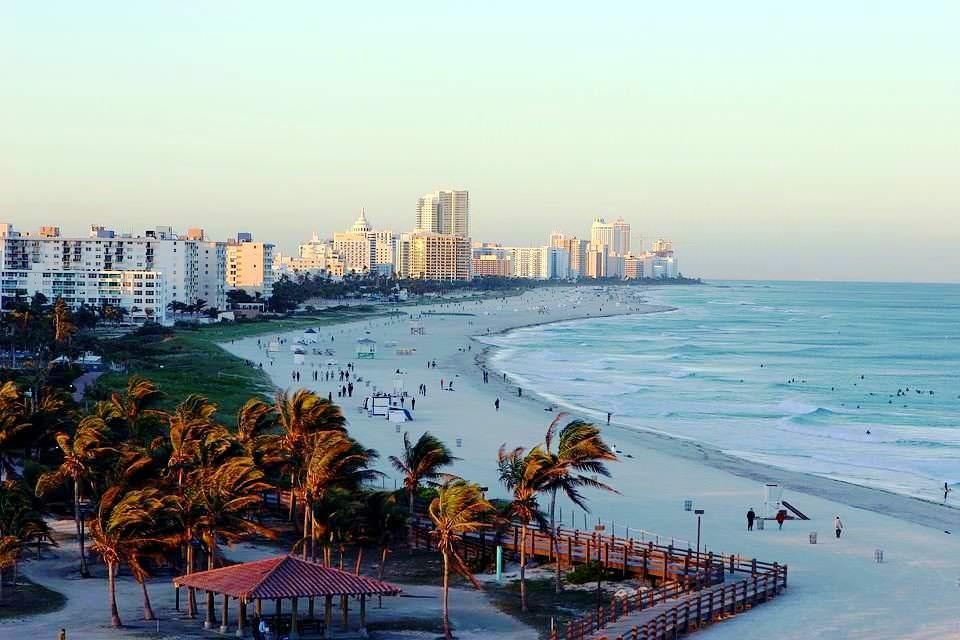 Miami beach tra mare e cielo