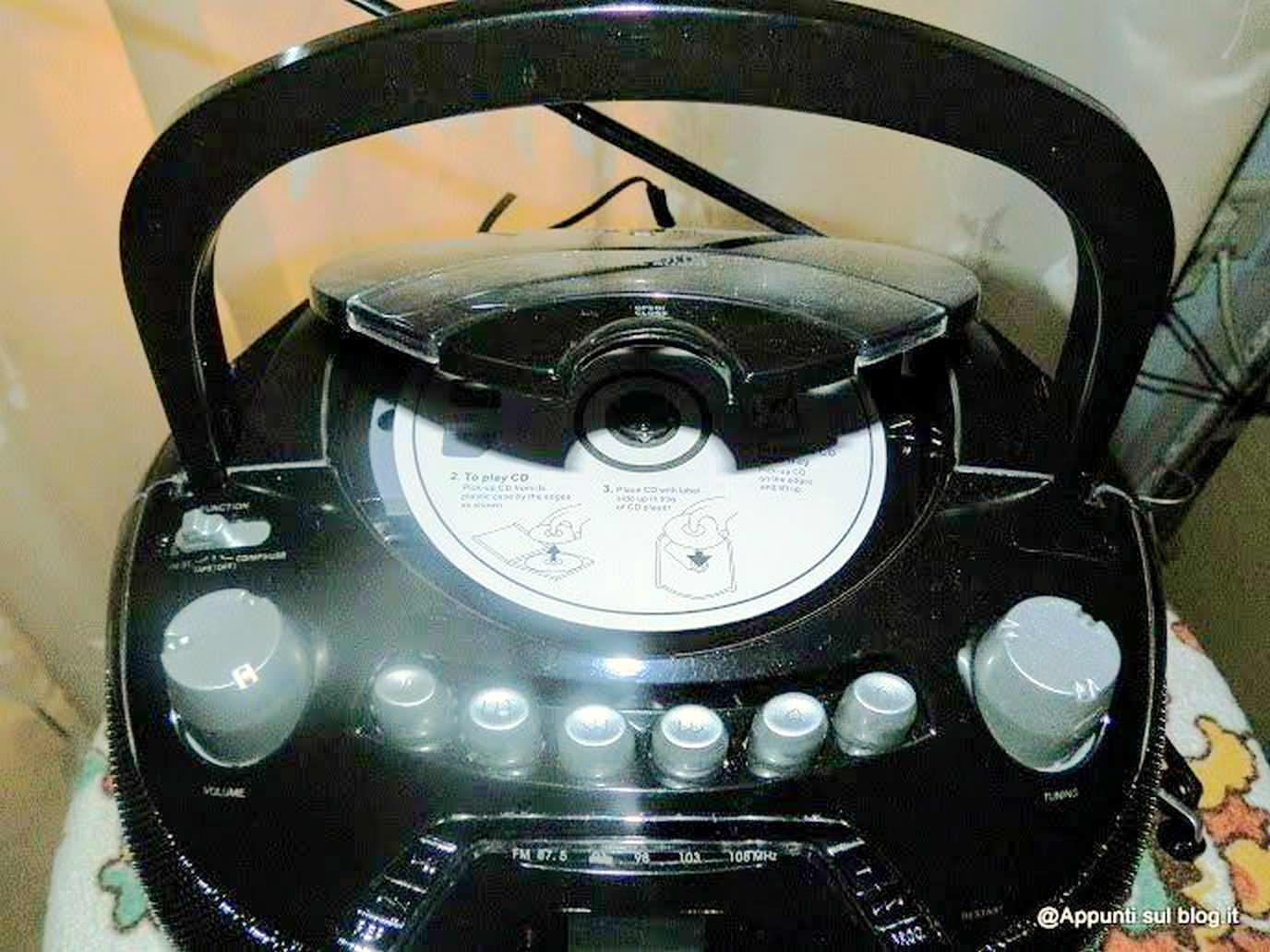auna Beeboy radioregistratore CD MP3 nero multimedia