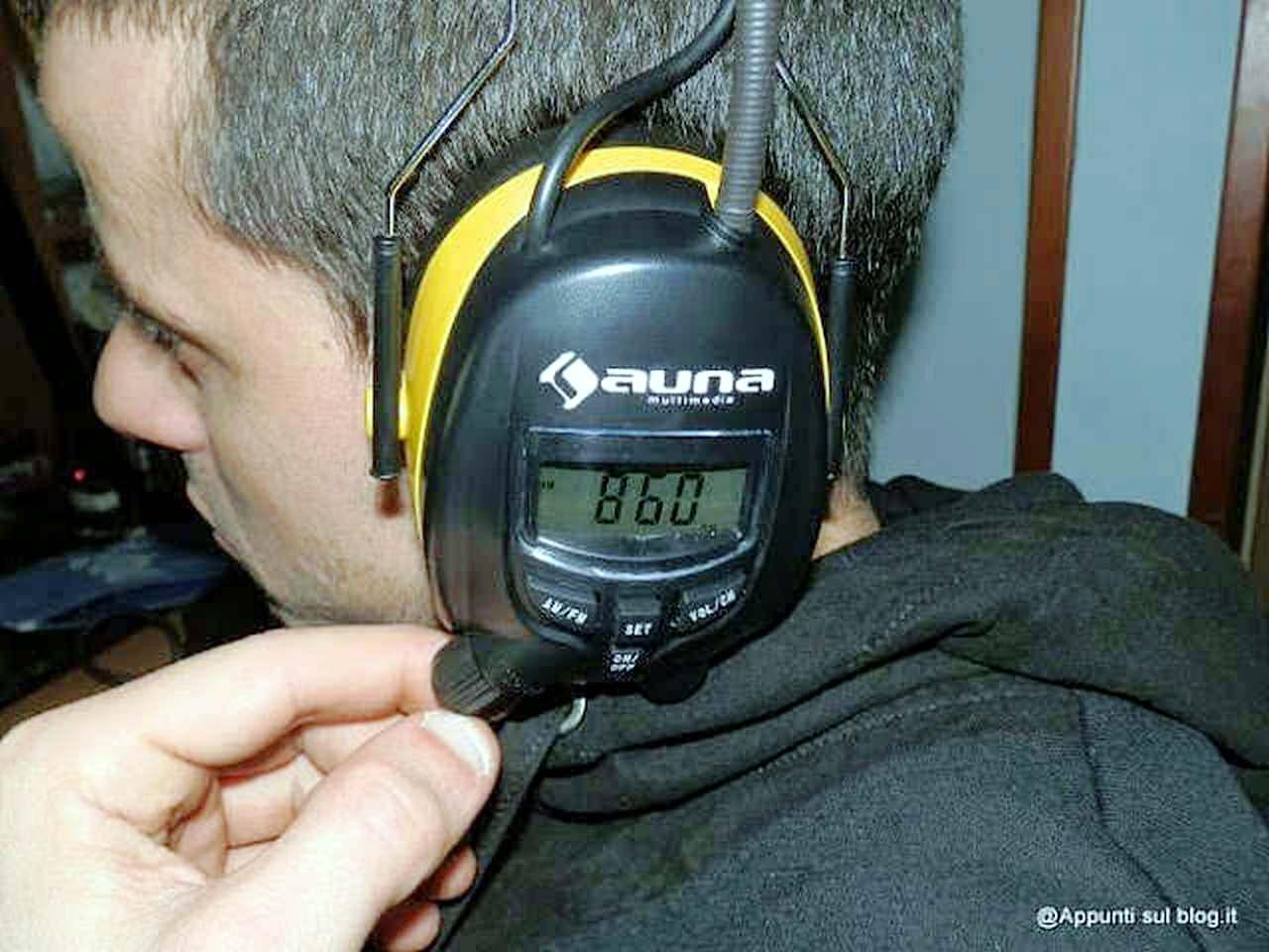 Auna Jackhammer cuffie AM/FM AUX per ascoltare musica ovunque