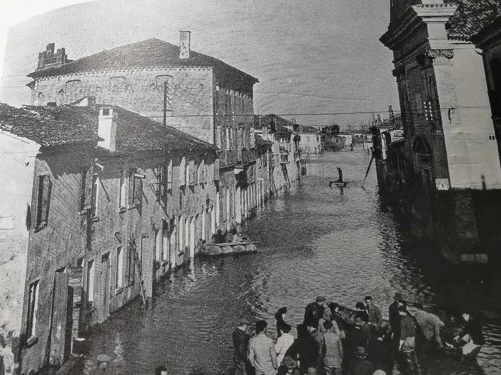 Alluvione ad Adria nella valle del Po