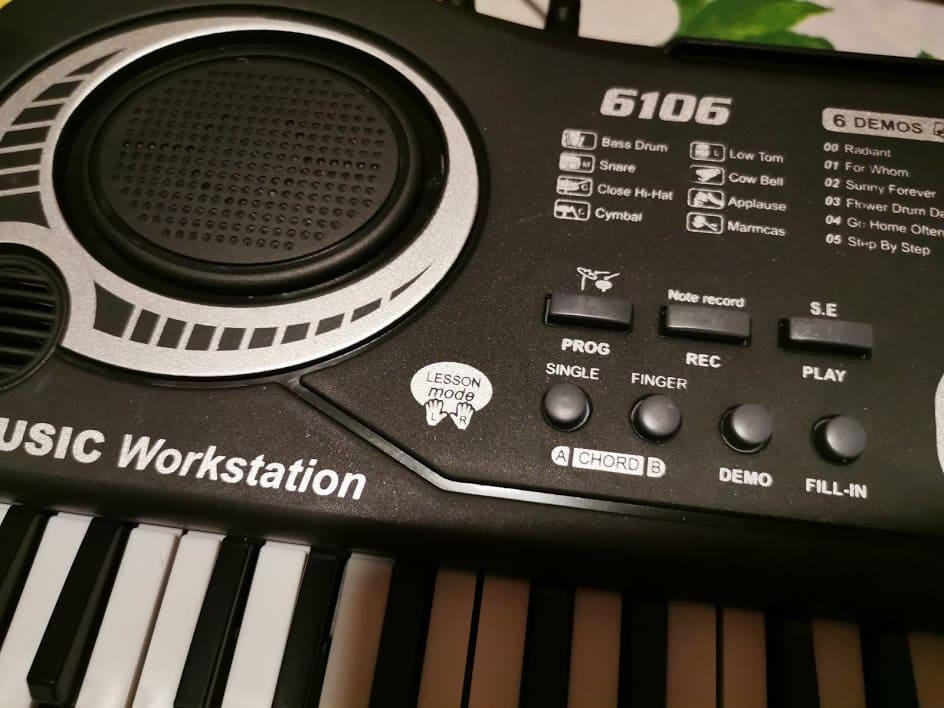Tastiera Pianoforte per Bambini TWFRIC 61 tasti 2 musica