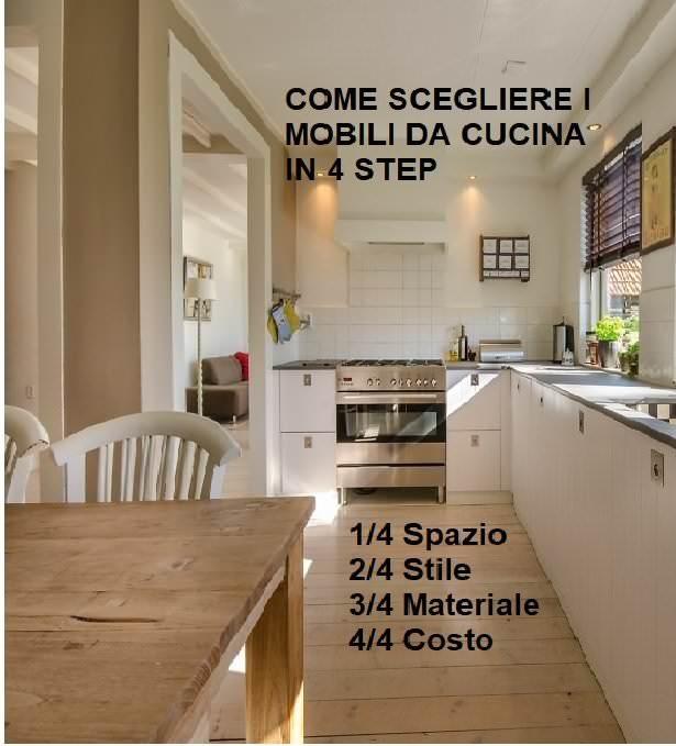 Come scegliere i mobili da cucina IN 4 Step