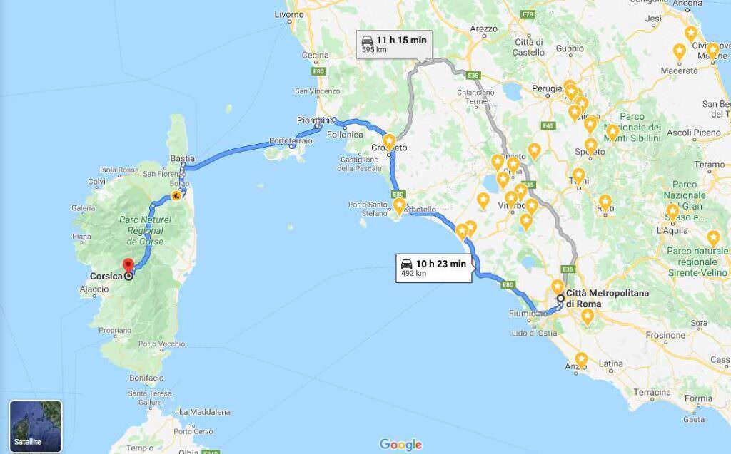 Come arrivare in Corsica da Roma, informazioni di viaggio per vacanze memorabili