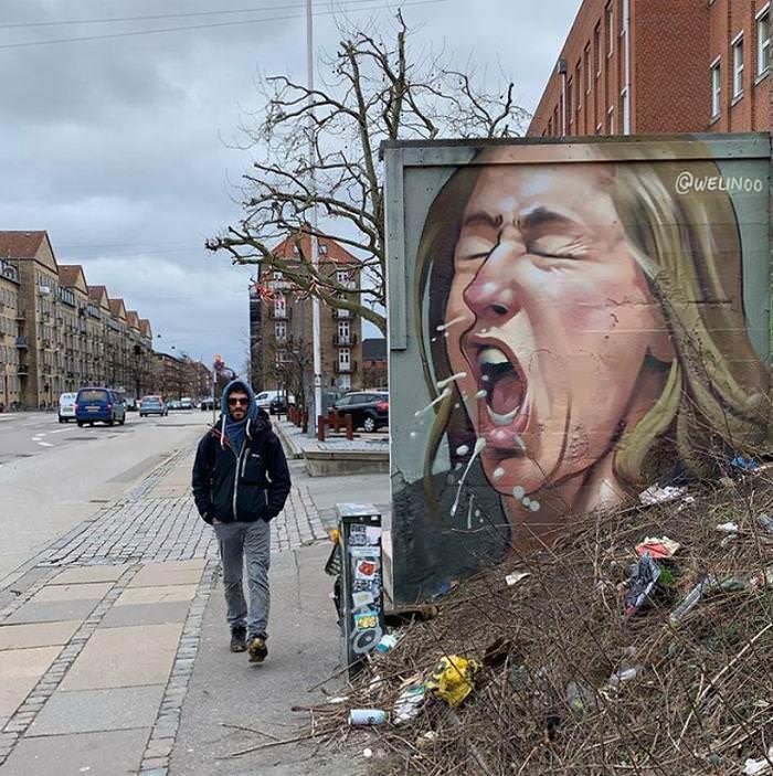 Graffiti contro il coronavirus nel mondo