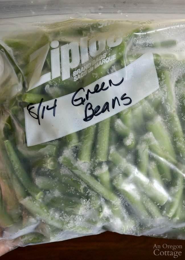 Blanching, congelare verdure fresche