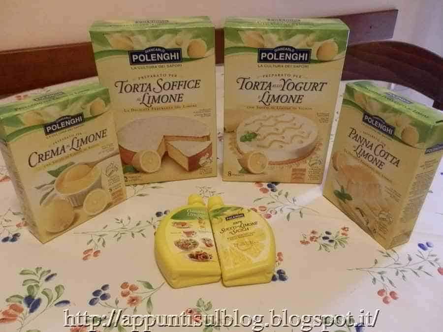 Polenghi, limone da bere e miscele per torte sempre a disposizione
