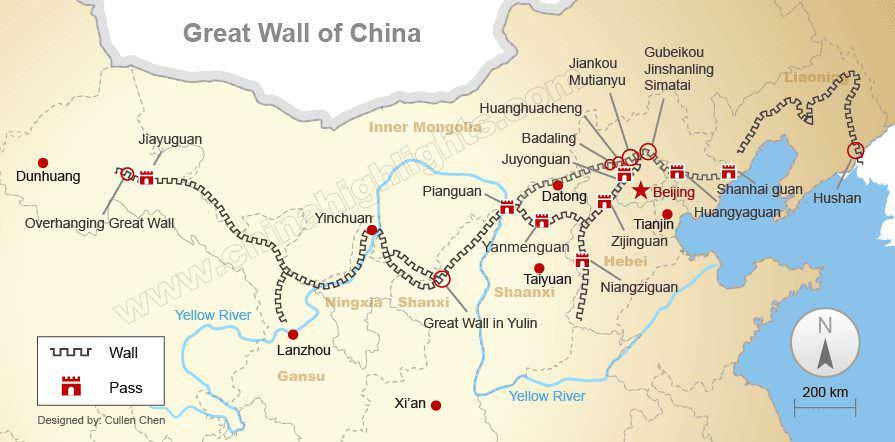 Grande Muraglia cinese storia e curiosità sito Unesco