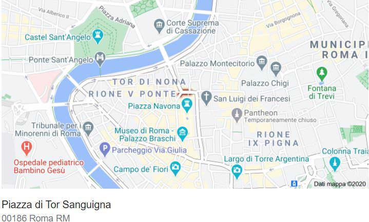 mappa roma piazza navona