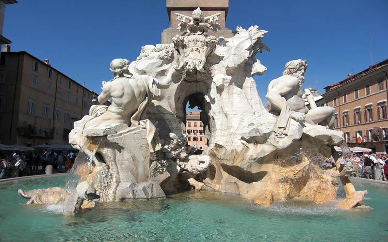Leggenda della Fontana dei 4 Fiumi a Roma