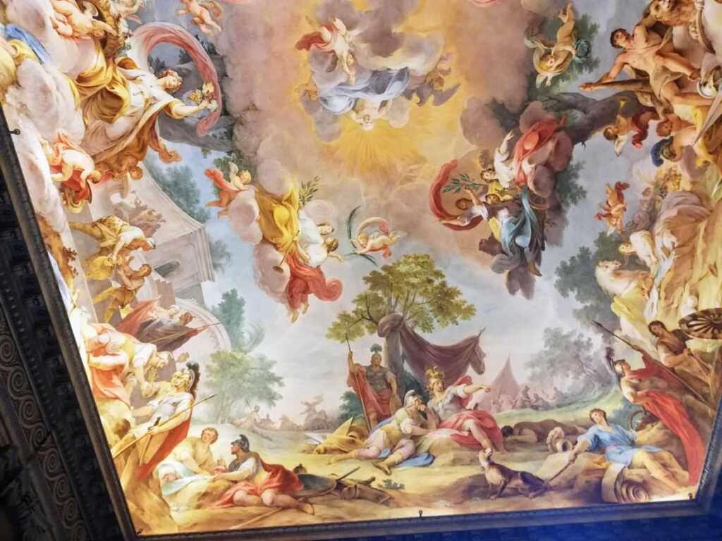 dipinti soffitto reggia