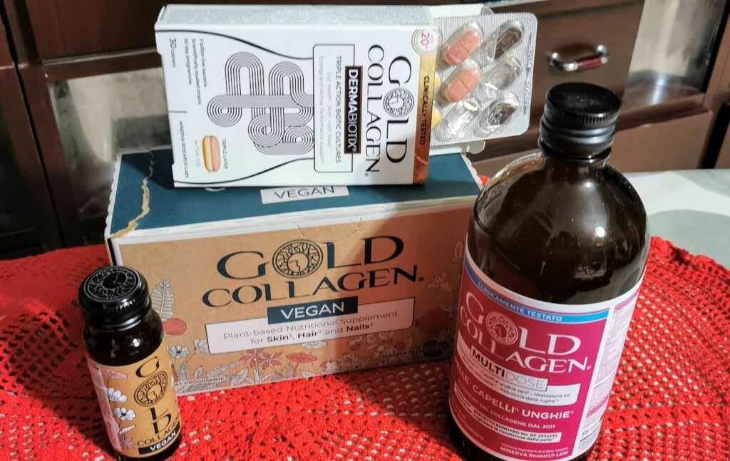 Gold Collagen Vegan, integratore per pelle, capelli e unghie