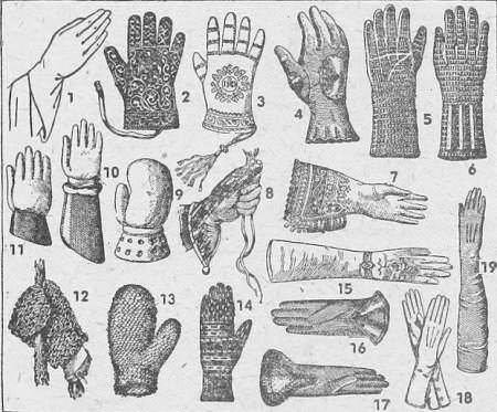 breve storia dei guanti