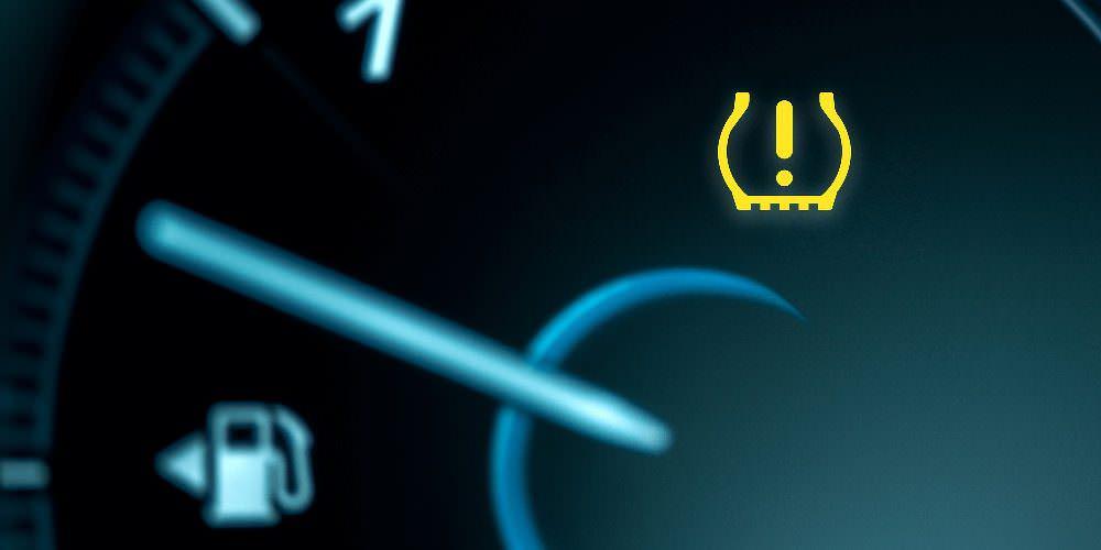 spia del sensore di pressione dei pneumatici