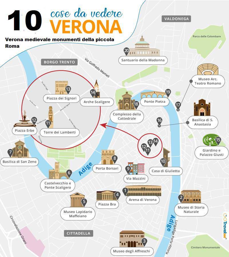 Verona medievale monumenti della piccola Roma: 10 cose da vedere
